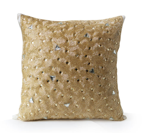 Diamond Crystal Embellished Pillow Cover
