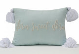 Dorm Sweet Dorm embroidered decorative throw pillow cover