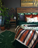 Emerald Green Velvet Quilt, Pick Stitch Bedspread