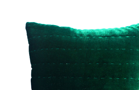 Quilted Sham Cover, Velvet Pick Stitch Sham and Pillow Covers