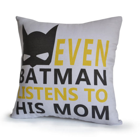 Handmade batman throw pillow cover