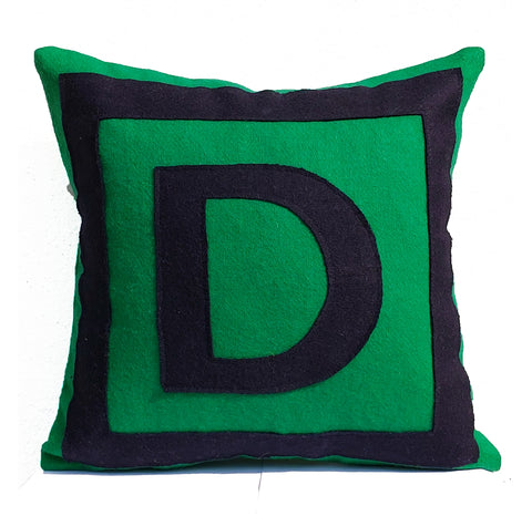 Monogrammed Decorative Pillow Cover, Kids Room Pillow Case