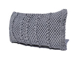 Gray Handwoven Fabric Pillow Cover