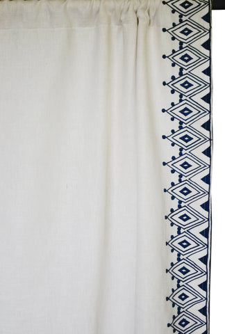 Moroccan Embroidery Curtain Panels