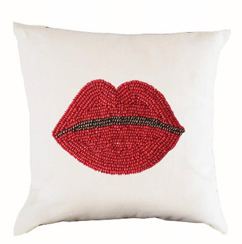 Rosy Lips Pillow Cover