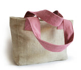 Handmade wedding tote bags with custom monogram