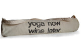 Handmade organic cotton yoga mat bag with custom message