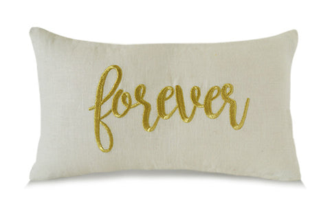 Forever Throw Pillows Valentines Day Gift Linen Pillow Cover