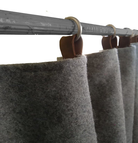 Wool Felt Curtains Light Gray Felt Curtain