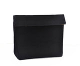 Black Cotton Canvas Dopp Kit