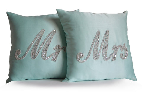 Handmade wife husband cushions and bedding