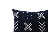 Velvet Throw Pillow Cover, Navy Velvet Pillow, Cotton Velvet Pillow, Mud Cloth Inspired Pillow, Wedding Registry Gift, Anniversary Gifts