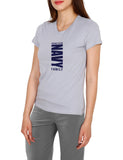 Navy cotton tees for women