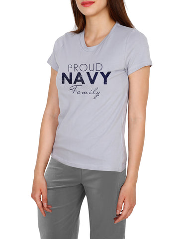 Navy saying cotton t-shirt