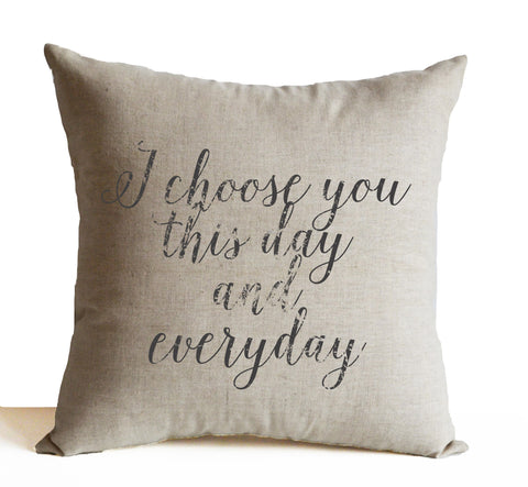 Handmade wedding throw pillows with personalized messages