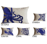 Oceanic theme embroidered throw pillow covers, Discount Throw Pillows
