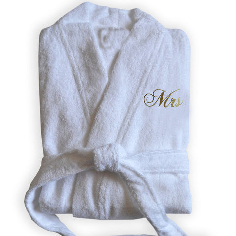 Handcrafted Monogrammed Cotton Bathrobe, Bridesmaid Gift