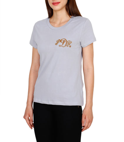Personalized Casual Cotton t-Shirt With Beads Monogramming