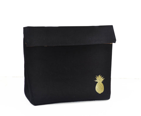 Amore Beaute Handcrafted Pineapple Embroidered Dopp Kit