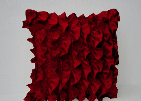 Private listing - 9 ruffled pillow covers sized 18x18 inches.  10% discount included