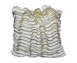 Ruffle Georgette Decorative Throw Pillow Cover Inspired By Victorian Style