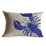 Lobster Embroidered Pillow Cover, Custom Pillow Cover