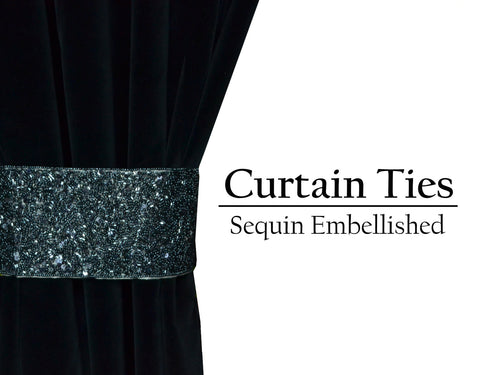 Sequin beads curtain tie