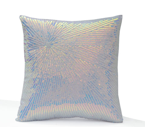 Sequin embellished throw pillow cover