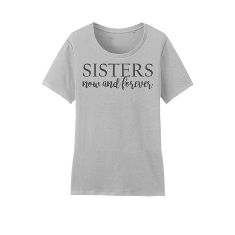Amore Beaute Hand Printed Sisters Quote Cotton T-Shirt