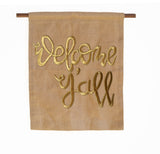 Welcome Y'all Burlap Wall Art/Hanging