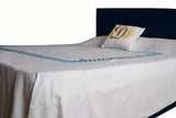 Chippendale embroidered duvet covers.