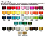 Embroidery color options from Amore Beaute