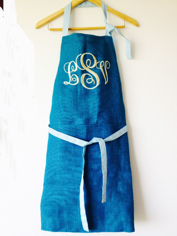 Personalized Monogrammed Aprons for Men Women and Kids