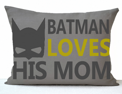 Handmade superhero throw pillow with personalized design