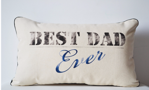 Handmade pillow covers custom message for your dad
