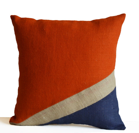 Amore beaute nautical burlap pillow