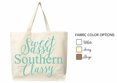 Handmade personalized sassy shopping tote bags