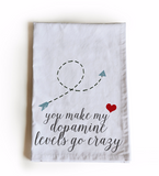 Handmade, personalized kitchen towels with funny messages