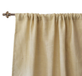 Burlap curtain panels in bloc style for doors and windows