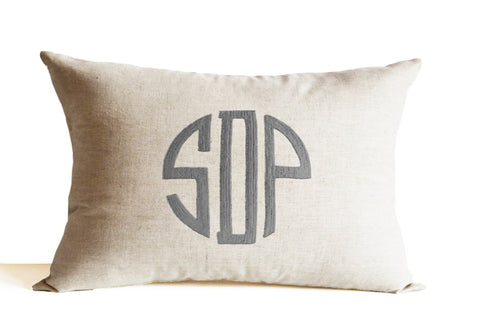 Monogram Pillow, Decorative Throw Pillow, Personalized Wedding Anniversary