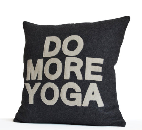 Do More Yoga Pillow, Yoga Cushion Covers, Yogis Funny Pillow, Yoga Gifts,Decorative pillow