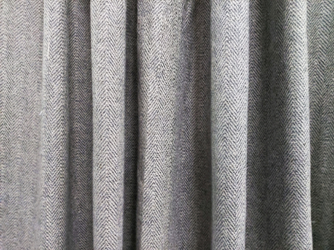 Chevron Woolen Curtains, Drapery for Winter, Wool Felt Curtains, Window Curtains, Door Curtains, Eyelet Curtains, Leather Tab Curtains