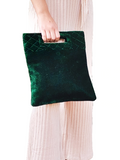 Green Velvet Monogram Purse, Monogram Tote, Monogram Purses, Bride To Be Gifts, Personalized Velvet Clutch,New year