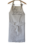 Personalized Aprons Women, Linen Aprons for Women, Housewarming Gift, Kitchen Linen Home Chef,  Free Shipping