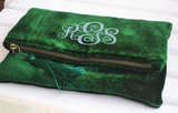 Personalized Velvet Clutch