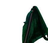 Emerald Green Velvet Purse, Pyramid Purse, Triangle Pouch,Velvet Party Accessories, Small Clutch, Evening Purse,New year gift