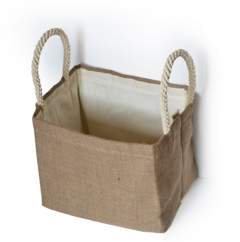 Dorm Laundry Bags, Dorm Decor, Dorm Cubby Bin, Burlap Basket, Burlap Laundry Bags, Burlap Storage Bin,  Kids Room Toy Basket, Fabric Basket