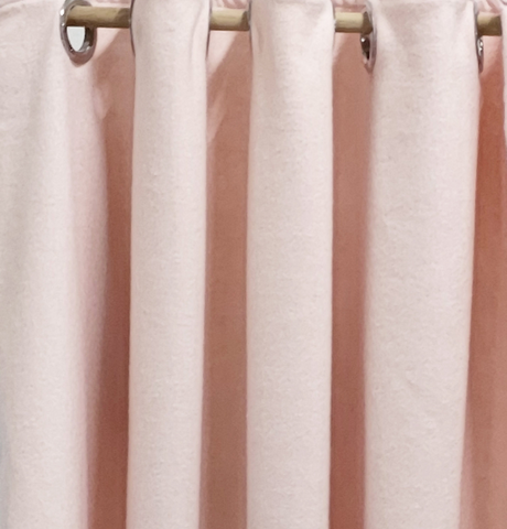 Blush Pink Felt Wool Curtain