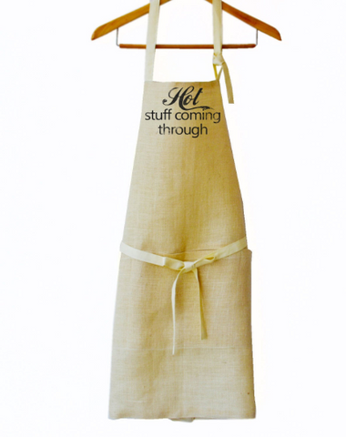 Personalize Monogrammed Apron, Full Length Burlap Aprons, Message Apron, Cute Message Apron, Wedding Gifts, Gifts for her, Birthday gifts