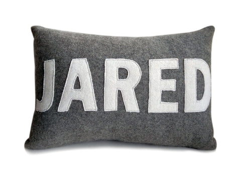 personalized kids pillow, personalized name pillow, felt pillow, personalized toddler pillow
